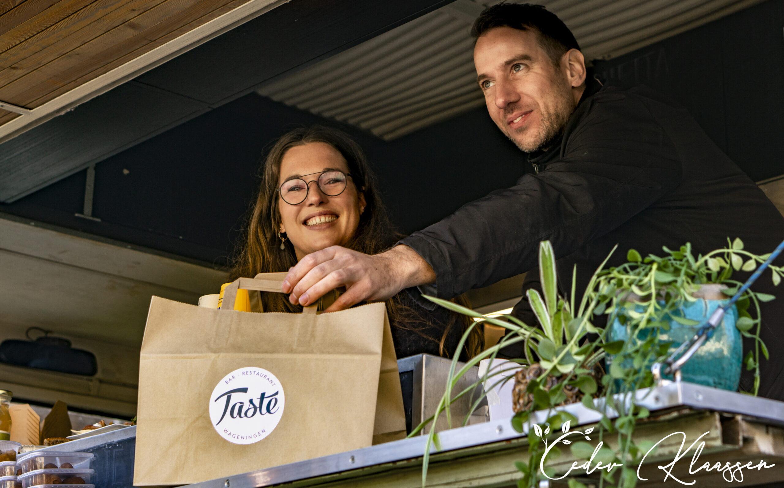 Ondernemers Manon en Rogier Bar Restaurant Taste Wageningen